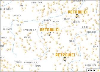map of Petrovići