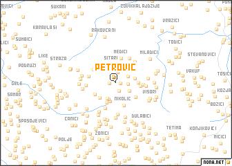 map of Petrović