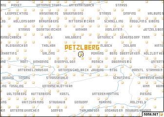 map of Petzlberg