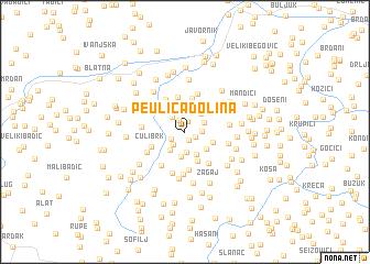map of Peulića Dolina