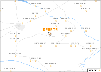 map of Pevets