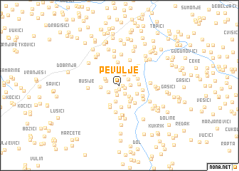 map of Pevulje