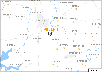 map of Phelan