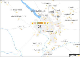 map of Phenix City