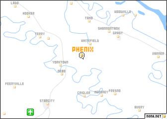 map of Phenix