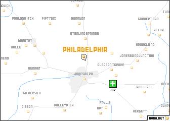 map of Philadelphia