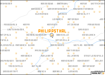 map of Philippsthal