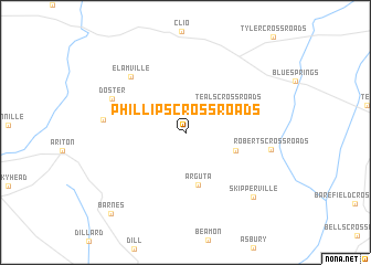 map of Phillips Crossroads