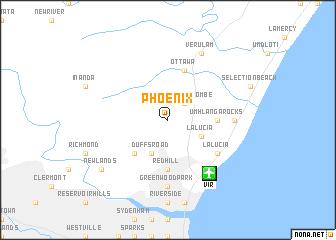 Phoenix South Africa Map  Nona