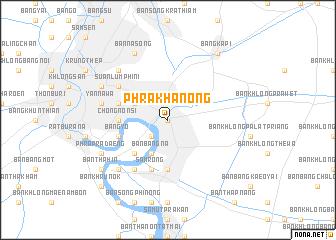 map of Phra Khanong
