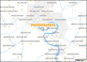 map of Phra Pradaeng