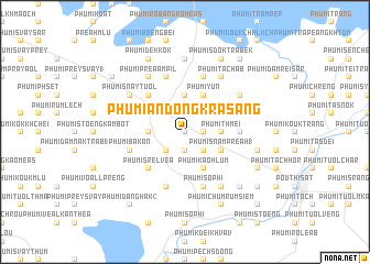 map of Phumĭ Ândong Krâsăng