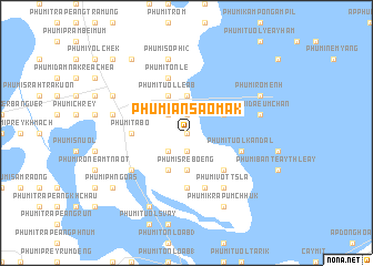 map of Phumĭ Ânsaôm Âk