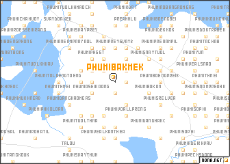 map of Phumĭ Băk Mêk