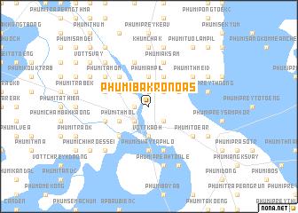 map of Phumĭ Băk Rônoăs