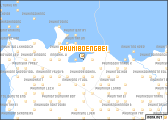 map of Phumĭ Bœ̆ng Bei