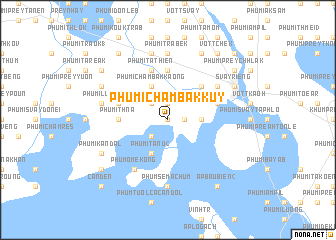 map of Phumĭ Châmbák Kŭy
