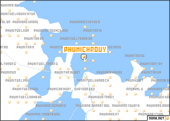 map of Phumĭ Chroŭy