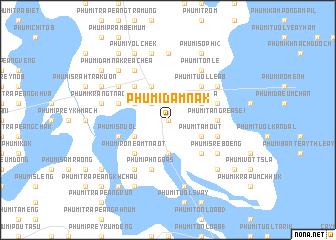 map of Phumĭ Dâmnăk