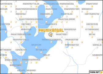 map of Phumĭ Kândal