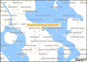 map of Phumĭ Kândiĕng Réay