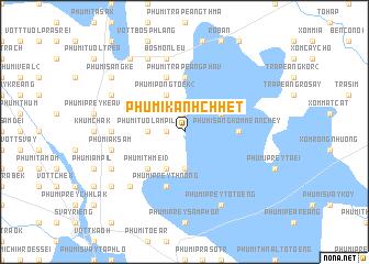 map of Phumĭ Kânhchhêt