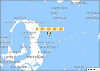 map of Phumĭ Kaôh Bor