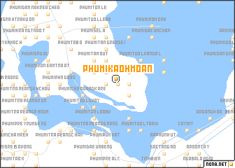 map of Phumĭ Kaôh Moân