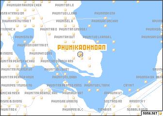 map of Phumĭ Kaôh Moân