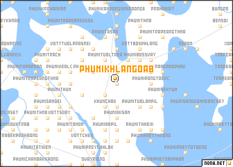 map of Phumĭ Khla Ngoăb