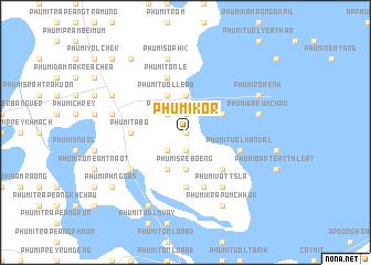 map of Phumĭ Kôr