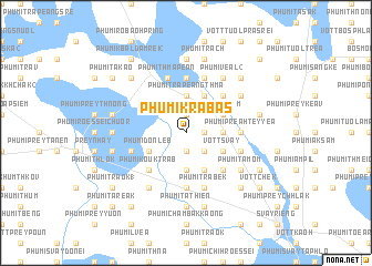 map of Phumĭ Krâbas