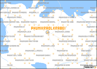 map of Phumĭ Kraôl Krâbei