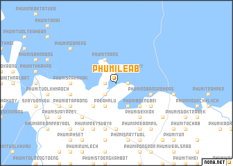 map of Phumĭ Léab