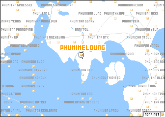 map of Phumĭ Mé Loŭng