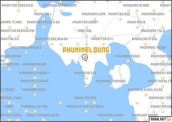 map of Phumĭ Mé Loŭng