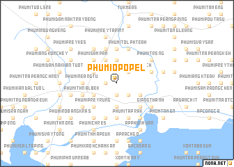 map of Phumĭ O Pôpél