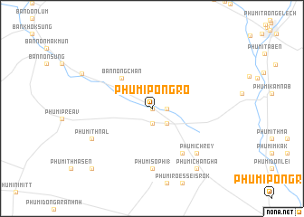 map of Phumĭ Pôngrô