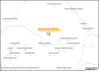 map of Phumĭ Pôpél