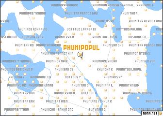 map of Phumĭ Pôpul