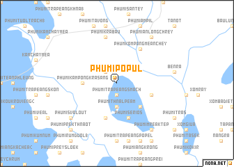 map of Phumĭ Pôpul