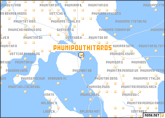 map of Phumĭ Poŭthĭ Tarós