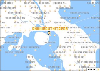 map of Phumĭ Poŭthĭ Tarós