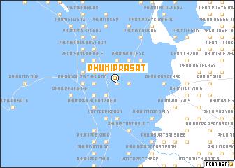 map of Phumĭ Prasat