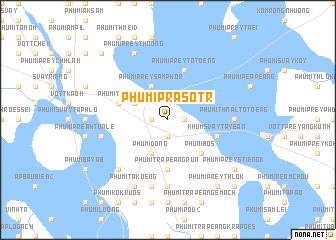 map of Phumĭ Prâsotr