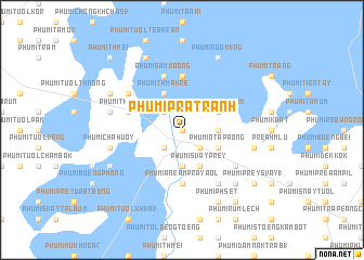 map of Phumĭ Prâtrănh
