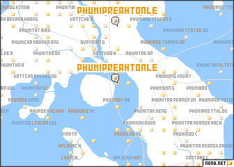 map of Phumĭ Preăh Tônlé