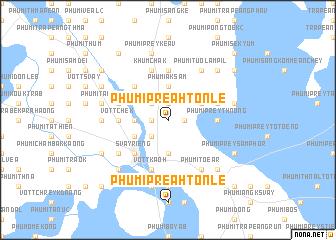 map of Phumĭ Preăh Tônlé