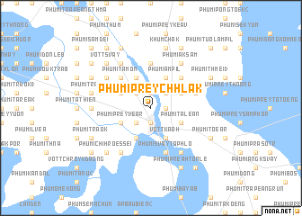 map of Phumĭ Prey Chhlăk