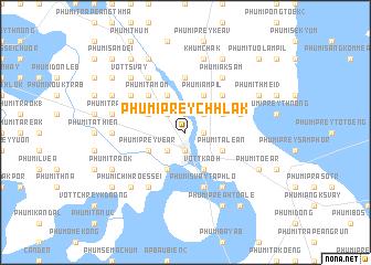 map of Phumĭ Prey Chhlăk